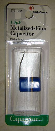1uF Radio Shack Metalized Film  Capacitor for  HDR